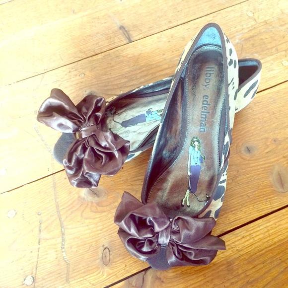 libby. edelman Shoes - Libby Edelman leopard print leather peep toe flats